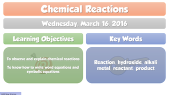 New chemical reactions 2016 aqa chemistry gcse c1 lesson 7 by adg new chemical reactions 2016 aqa chemistry gcse c1 lesson 7 urtaz Choice Image