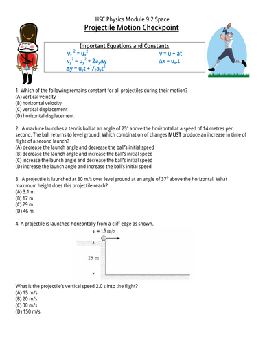 Projectile Motion Teaching Packet by pixelcowboy - Teaching ...