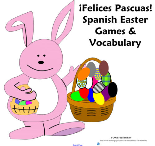spanish easter games activities and vocabulary for smartboard la pascua by suesummersshop. Black Bedroom Furniture Sets. Home Design Ideas