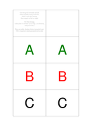 ABC multiple choice test chooser