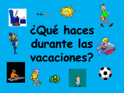 spanish teaching resources holiday vacation activities powerpoint