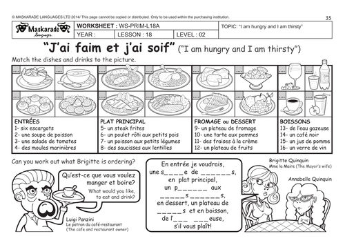 French Food Matching Words Worksheet twinklcouk - mandegar.info