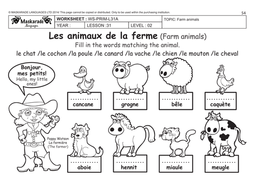 Farm Animals Worksheets Kindergarten & farm animals for kids