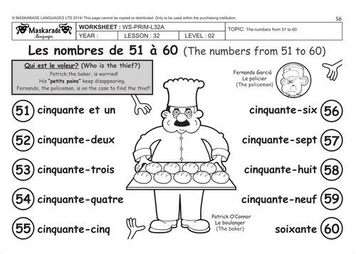 french unit 6 friends activities time y4 y5 counting up to 60 describing people song by. Black Bedroom Furniture Sets. Home Design Ideas