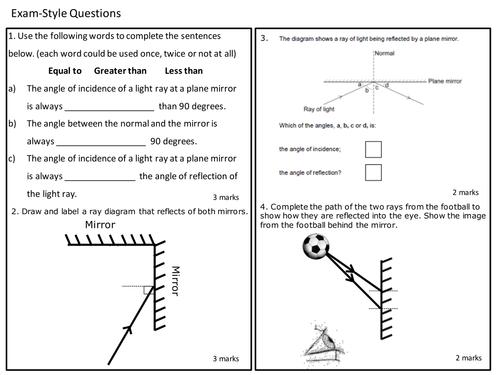 Worksheet Refraction Worksheet Ks3 waves reflection refraction and diffraction revision lesson by davidpereira89 teaching resources tes