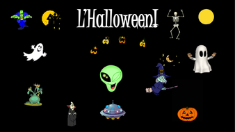 french teaching resources halloween matching cards powerpoint