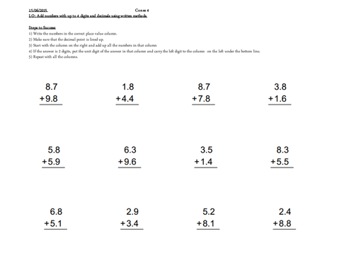 Worksheets Year 4 Maths year 4 maths addition subtraction inverse by lesson 1 worksheets pptx