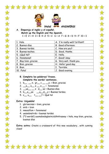 Printables Spanish Worksheets Greetings spanish teaching resources greetings worksheet battleships game lotto grid by rachelburman te