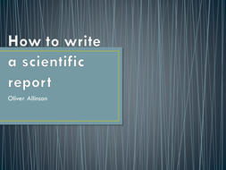 how to write a scientific report example