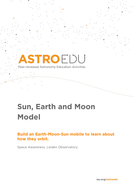 Sun, Earth and Moon Model