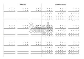Column multiplication worksheet generator | Teaching Resources
