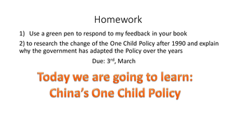 one child policy research paper