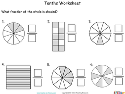 tenths  number  fractions  year  by onlineteachingresources   tenthsyearpdf