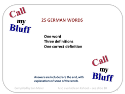 German 'Call My Bluff' Quiz