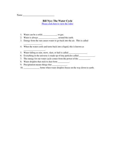Worksheet The Nitrogen Cycle Worksheet Answers the water cycle carbon nitrogen and bill nye doc
