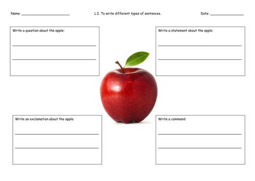 NEW 2016 Year 2 SATs Style SPaG worksheets and activities – Types of Sentences Worksheets