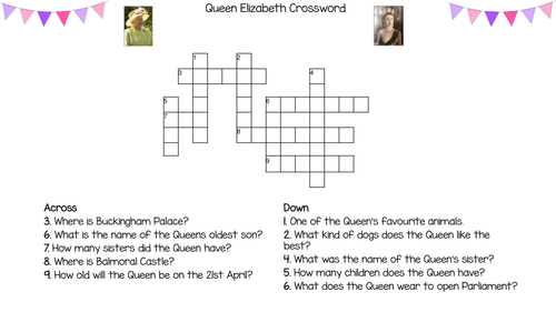 Colouring Pictures Queen Elizabeth 2 : Queen elizabeth ii activity pack crosswords word searches