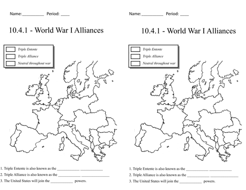 World War I - Europe Plunges into War