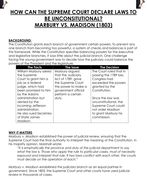 Essay Thesis Statement Examples Marbury Vs Madison  How Can The Supreme Court Declare Laws To Racial Profiling Essay also Psychological Essays Marbury Vs Madison  How Can The Supreme Court Declare Laws  Proposing Solutions Essay Topics