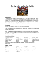 World War II: The War in the Pacific: Map Activity with Key!
