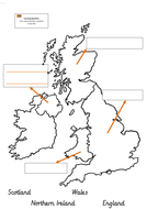 Label a UK map