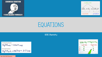 Equations (symbol, half, ionic) 2016 GCSE Chemistry Lesson by adg ...