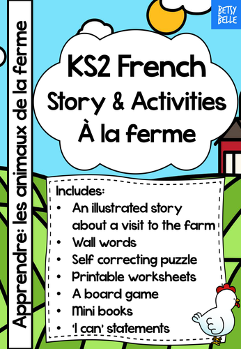 ks2 french story at the farm by betsybelleteachesfrench uk teaching resources tes. Black Bedroom Furniture Sets. Home Design Ideas