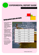 EXPERIMENTAL REPORT GUIDE IN PHYSICS - IGCSE, AQA and GCSE