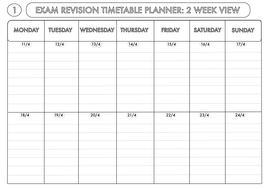 exam revision timetable planner 2016 by beckystoke teaching