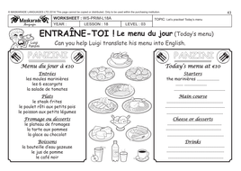 Long Division Worksheets And Answers Pdf French Unit  Food Year    At The Restaurant  Choosing  Pig Heart Dissection Worksheet Excel with Perimeter Word Problems Worksheets Frenchyyattherestaurantworksheet Kindergarten Worksheets Writing