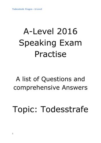 Speaking test kennenlernen fragen