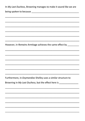 my last duchess mid lower ability lesson resources aqa my last duchess mid lower ability lesson resources aqa anthology by tb9605 teaching resources tes