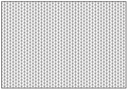 isometric paper a3 support sheet by bethanstanley