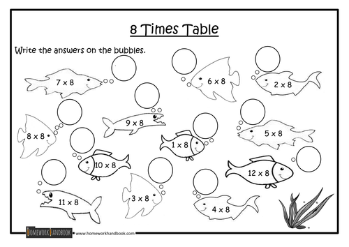 Number Names Worksheets : times tables 8 ~ Free Printable ...