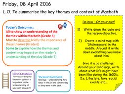 Macbeth Scheme of work (Powerpoints/resources)