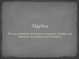 maths ks2 ks3 algebra powerpoint quiz covering every aspect of