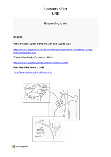 Elements of Art LINE by ninpp - Teaching Resources - TES