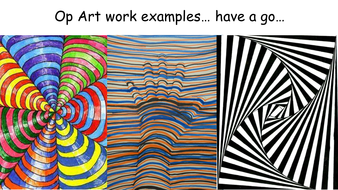 year 9 op art bridget riley and victor vaserely research sheet by