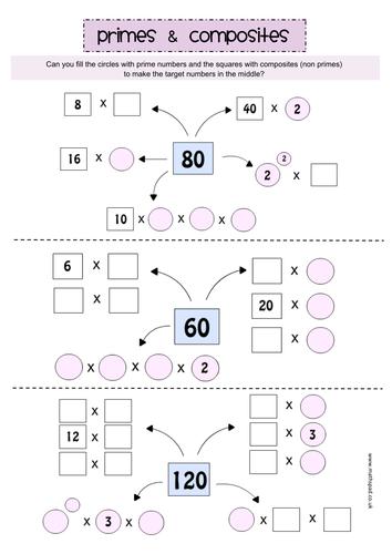 Factors, Multiples & Primes: Activity & Worksheet Pack by ...