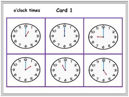 Time/Clocks: Telling Time Games Clock Bingo, Dominoes, Time Snap