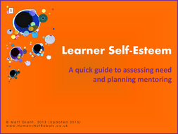 Learner Self-Esteem - Assessment and Action