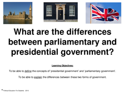 difference between parliamentary and presidential