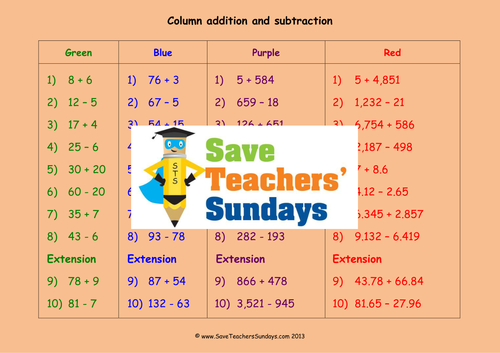 Addition Worksheets Vertical Addition Worksheets Ks2 Preschool – Vertical Subtraction Worksheets Ks2