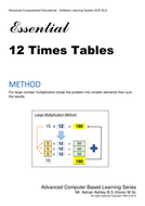 12 Time Tables FREE PDF Book.  Times Tables PROTOTYPE  Android Software Application on Google Play