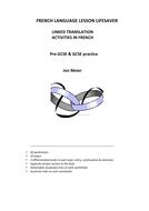 French Language Lesson Lifesaver Booklet -Linked Translations