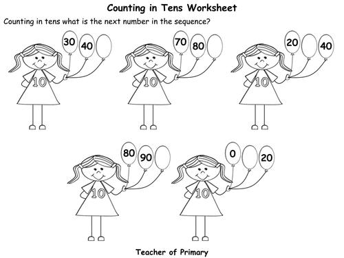Number Names Worksheets » Count By Tens Worksheet - Free Printable ...