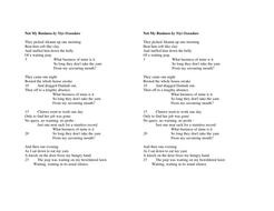 Not My Business, Niyi Osundare - Poetry
