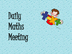 daily maths meetings year 3 by gurka teaching resources tes