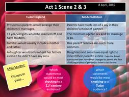 Romeo and Juliet Act 1 Scenes 2 & 3 (AQA New Spec 2017)