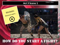 Romeo and Juliet Act 3 Scene 1 (AQA New Spec 2017)